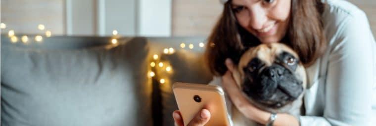 visite quotidienne de chien à domicile