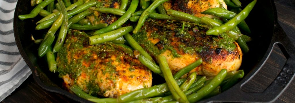 poulet aux haricots verts